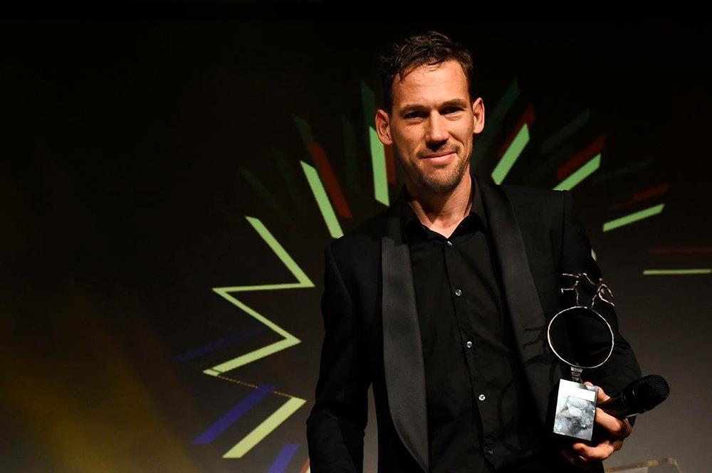 Maarten Tjallingii met de Gelderse Sportprijs 2016